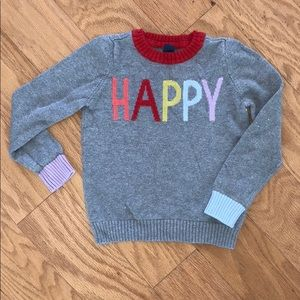 Gap Kids HAPPY sweater size 5